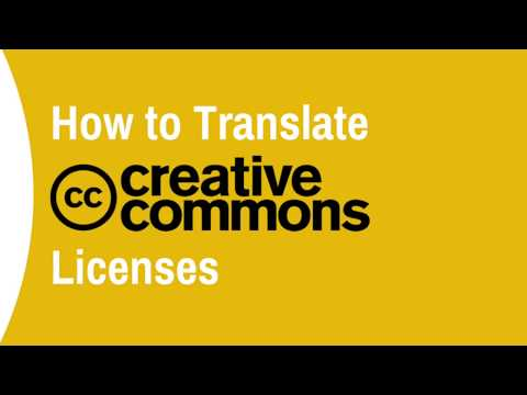 How to Translate Creative Commons Licenses